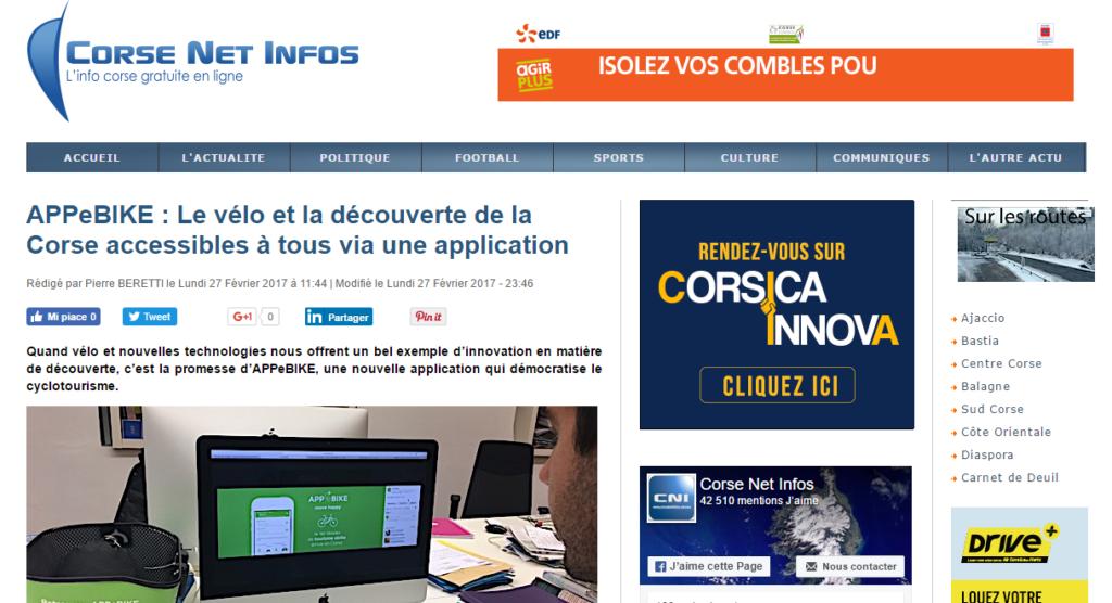 APPeBIKE : Le vélo et la découverte de la Corse accessibles à tous via une application - Corse Net Infos