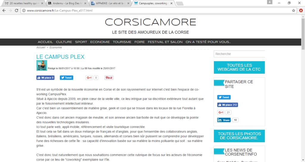 Campus Plex, Coworking des start up à Ajaccio - Corsicamore