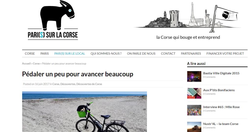 L'Ospédale à vélo avec APPebike - Paris sur la Corse