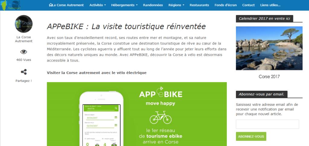 APPeBIKE : La visite touristique réinventée - La Corse Autrement