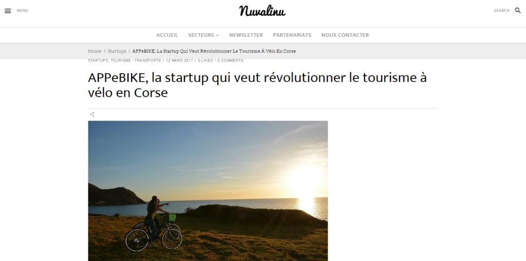 APPeBIKE : La startup qui veut révolutionner le tourisme à vélo en Corse - Nuvalinu