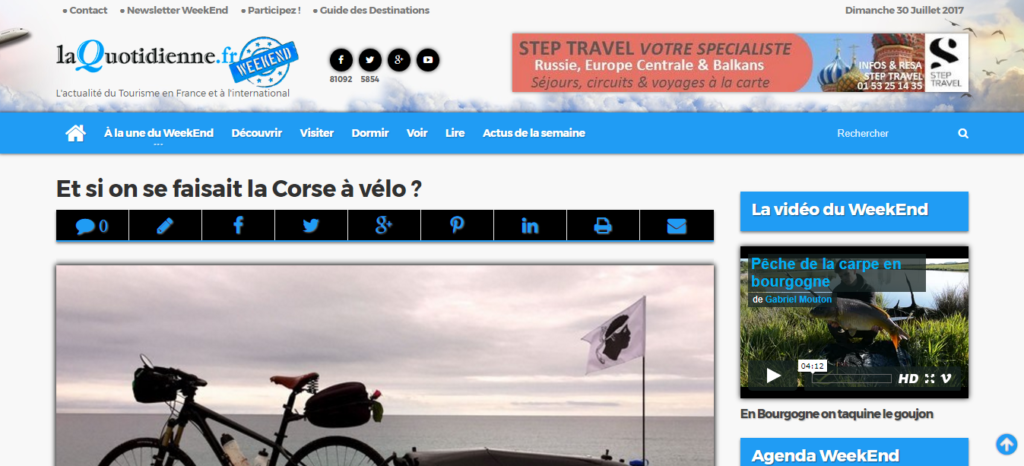 Et si on se faisait la Corse à vélo ? La Quotidienne