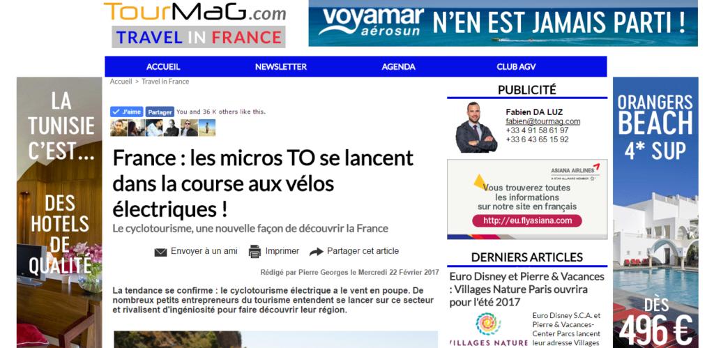 France : les micros TO se lancent dans la course aux vélos électriques ! - Tourmag